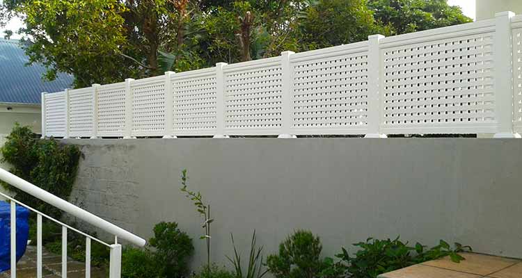 PVC Lattice Fencing