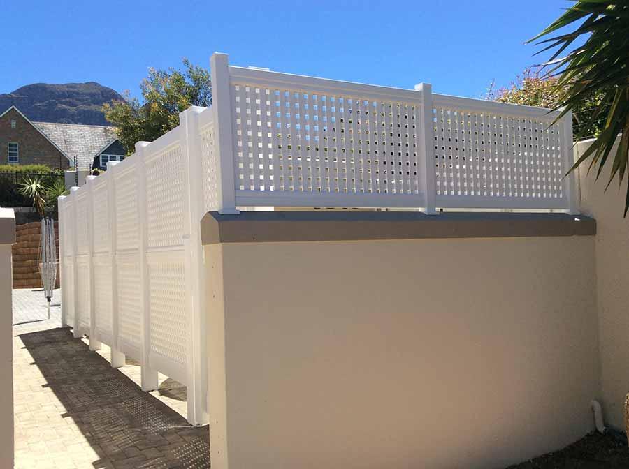 PVC Lattice Fencing & Decorative Panels - Absolut Fencing