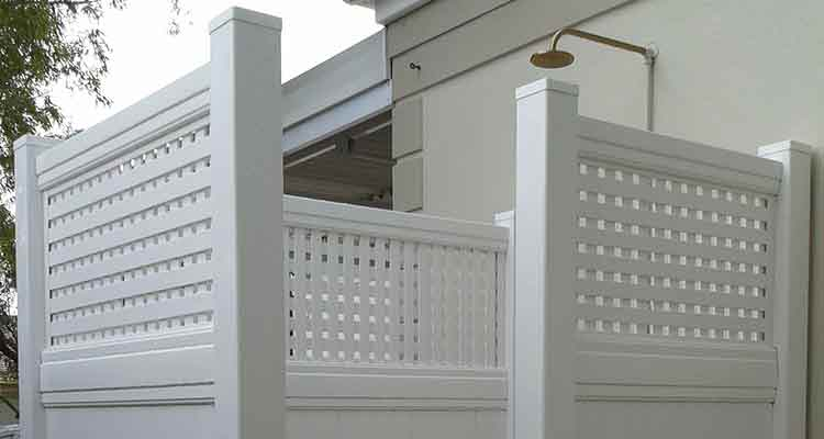 PVC Outdoor Shower Cubicle