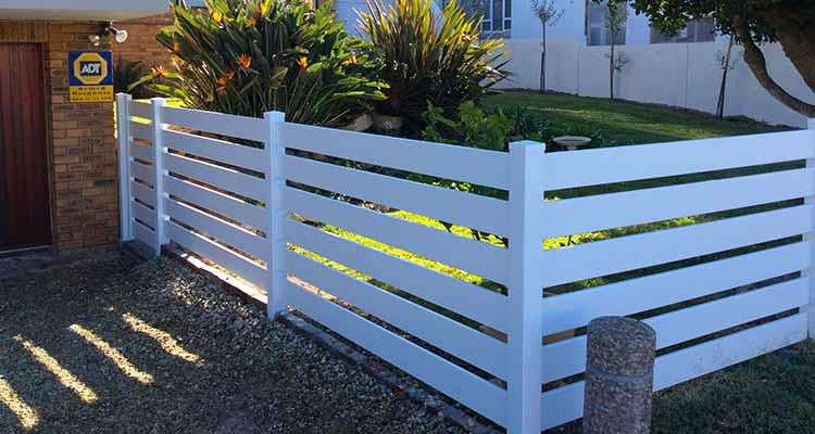Pvc Horizontal Wide Picket Fencing Absolut Fencing